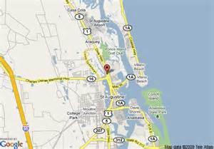 augustine florida map map of carpet inn st augustine augustine