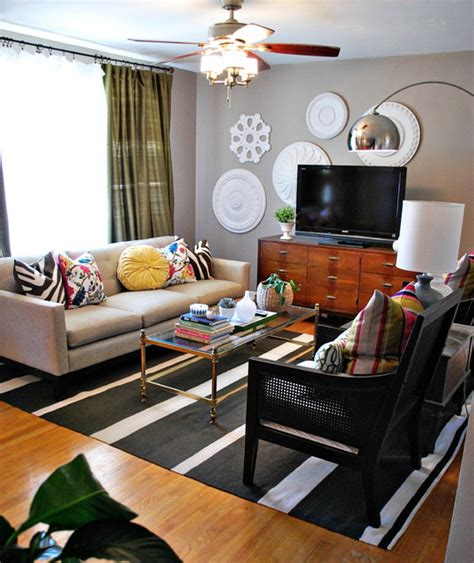 eclectic decorating ideas for living rooms eclectic living room with pops of color