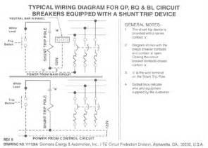 shunt trip wiring diagram get free image about wiring diagram