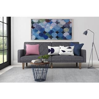overstock living room furniture dhp grey paxson linen futon