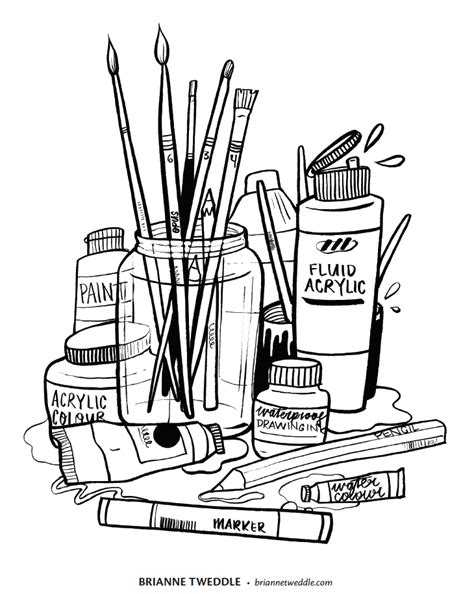 coloring supplies drawing supplies and coloring coloring pages