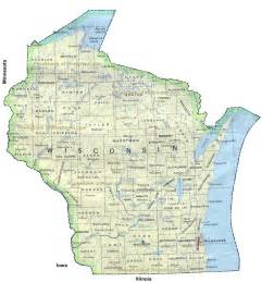 Wisconsin On A Map by Map Of Wisconsin Wisconsin Maps Mapsof Net