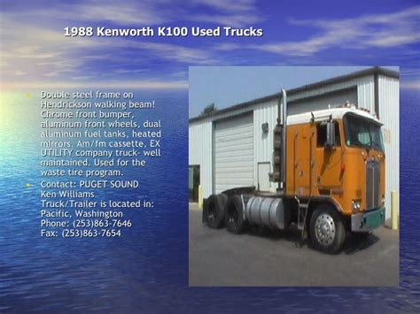 second kenworth trucks for sale 1988 kenworth k100 used trucks and 4 second trucks