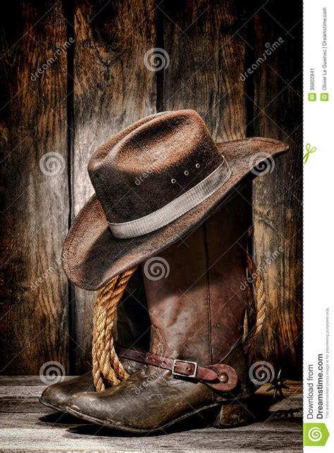 vintage cowboy boot l american west rodeo vintage cowboy boots stock image