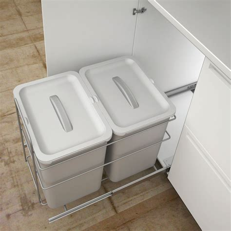 kitchen bin ideas it kitchens 400 mm integrated base mount pull out kitchen