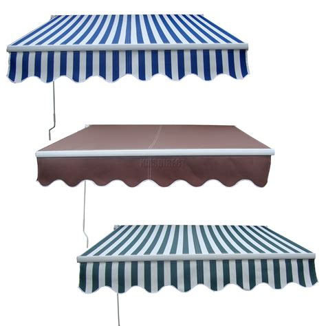 awning umbrella garden patio manual aluminium retractable awning canopy