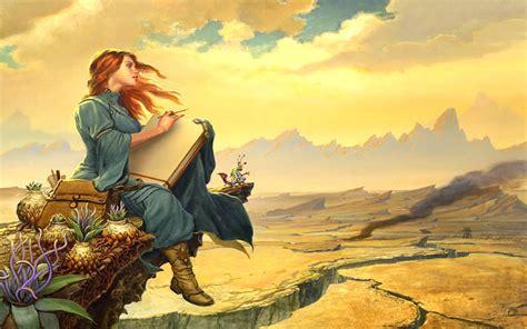 wallpaper girl painting alone fantasy girl painting art hd wallpapers wallpapers