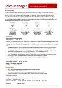 Resume Sle Manager Sales Manger Resume