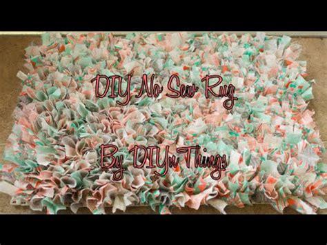 no sew tshirt rug diy no sew rug