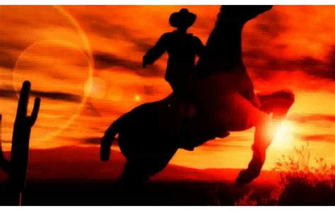 Western Chandelier Western Cowboy At Sunset Pictures Youtube