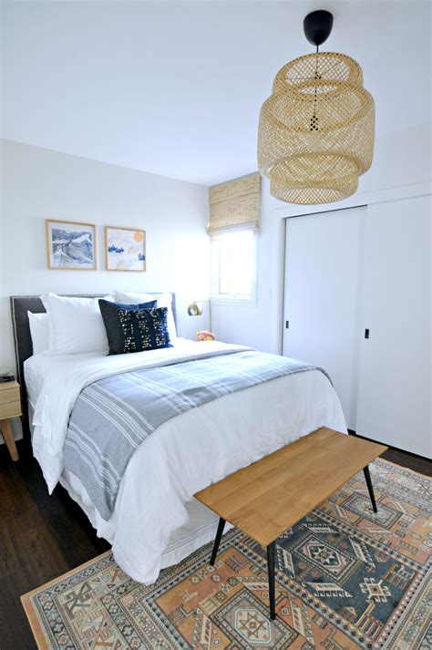 blue guest bedroom casual peachy blue and white guest bedroom house updated