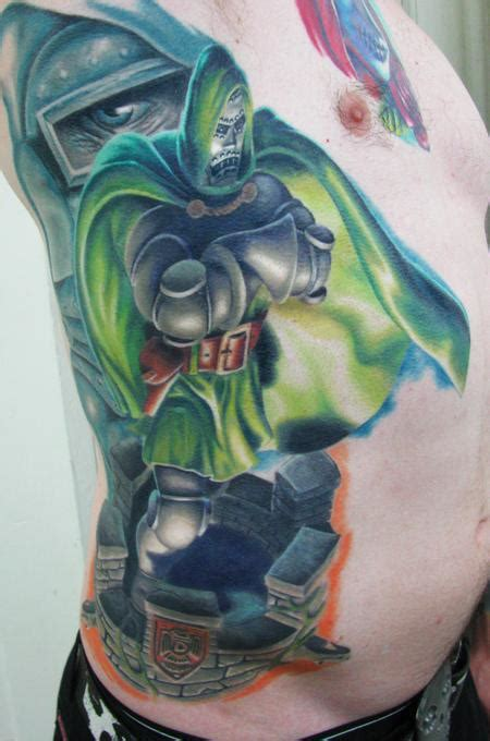doom tattoo dr doom rib healed by steve wimmer tattoos