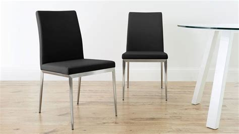 leather dining room chairs with metal legs modern dining chair brushed metal legs uk delivery