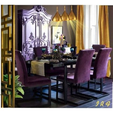 25 best ideas about purple dining rooms on