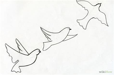 how to draw doodle birds flying bird drawing sketch coloring page