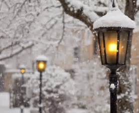 snowfall lights time magic snow winter image