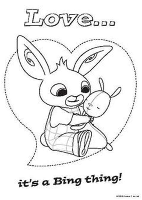 bing bunny free colouring pages