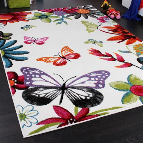butterfly rug rug butterfly multicoloured children s rugs