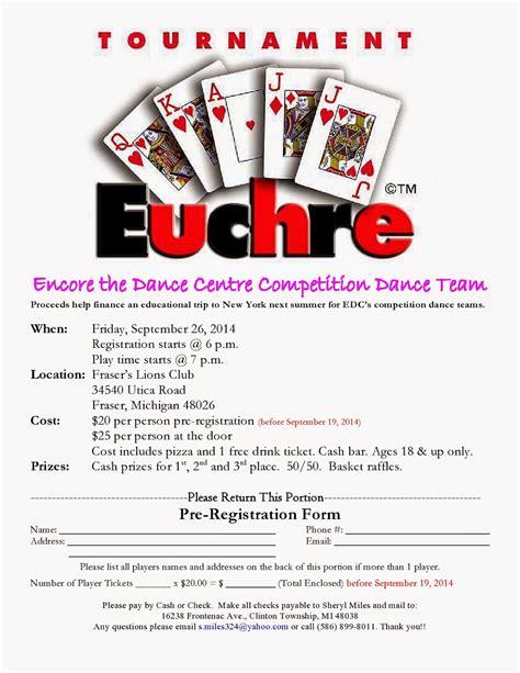 printable euchre instructions how to run a euchre tournament euchrefun print free