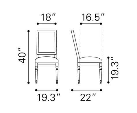 Dining Room Set Dimensions Cole Valley Dining Chair