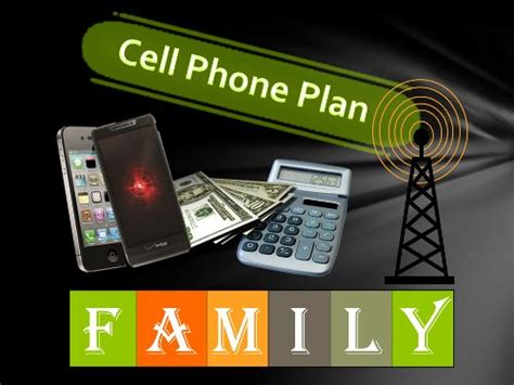 family cell phone plan lesson  life skills