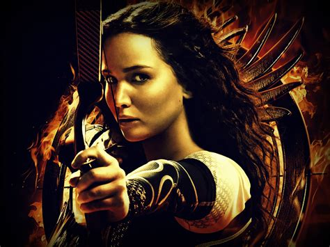 film hunger games new wallpaper of jennifer lawrence as katniss in catching