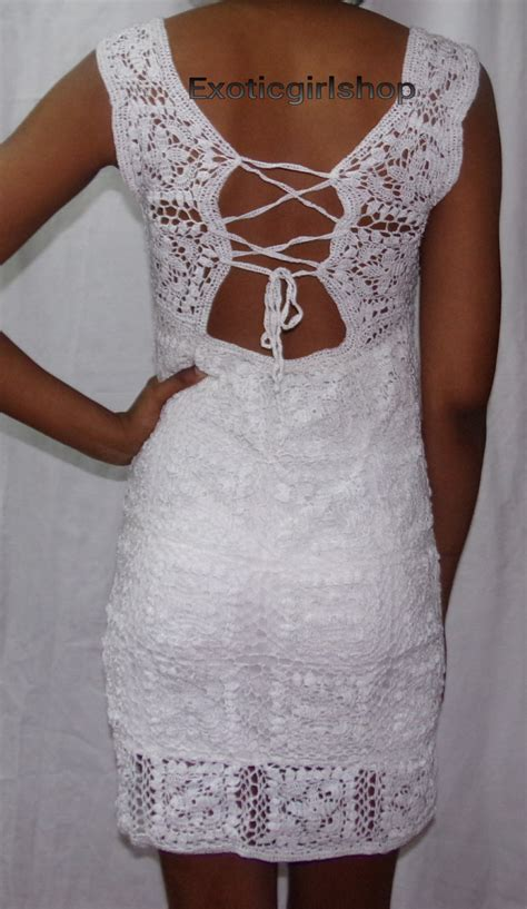 Handmade Crochet Dress - handmade crochet wedding dress by exoticgirlshop on etsy