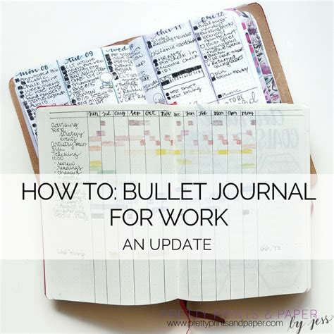 bullet journaling how to bullet journal for work an update pretty prints