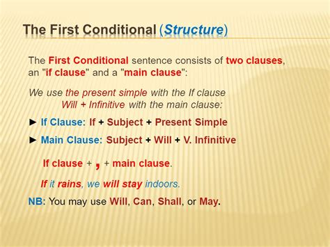 first conditionals conditionals the zero conditional the first conditional
