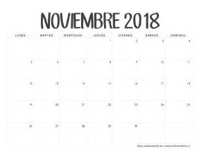 Calendario Noviembre 2017 Chile Calendarios 2018 Para Imprimir Minimalista