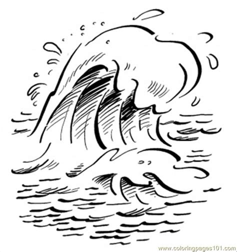 free coloring pages of waves in sea