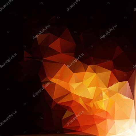 orange black design orange black polygonal mosaic background vector illustration creative business design