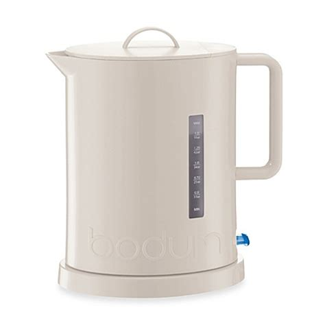 bed bath and beyond kettle bodum 174 ibis electric water kettle in white bed bath beyond