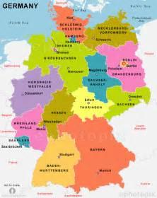 Political Map Of Germany by Deutschland Karte Provinzen