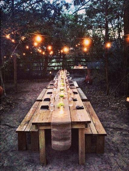 outdoor farm table ideas  pinterest rustic