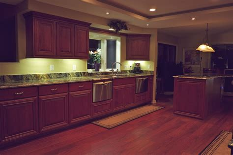 Led Lighting For Kitchen Cabinets Dekor Solves Cabinet Lighting Dilemma With New Led Cabinet Lights