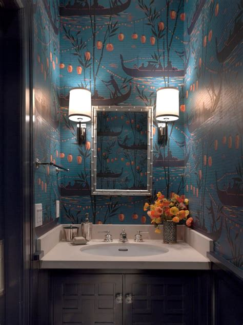blue eclectic bathroom photos hgtv powder room with bright rooms viewer hgtv