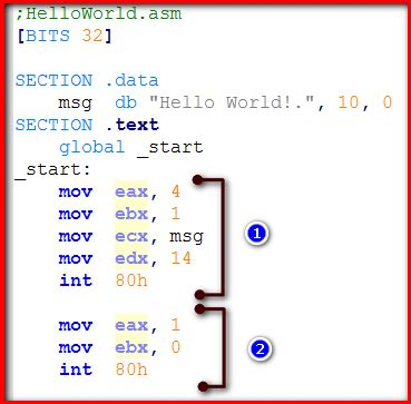linux tutorial edx 32 bit linux sistemler i 231 in quot hello world quot assembly