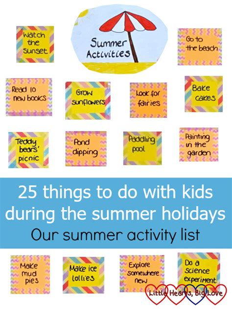 10 Things I Enjoy Doing During The Summer by 25 Things To Do With During The Summer Holidays Our