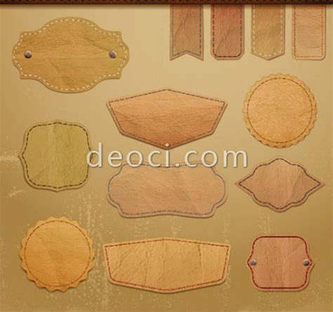 free downloads vector retro leather lables tags design