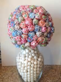 Dum Dum Lollipop Centerpieces items similar to dum dum lollipop flower ball vase candy