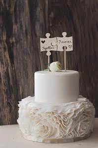 wedding cake flags wood burned puzzle pieces best day