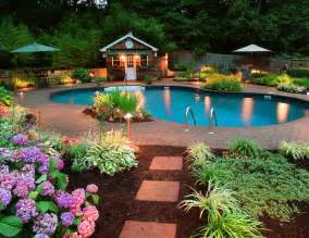 Backyard Pool Landscaping Bloombety Beautiful Backyards On A Budget With Green Umbrella Beautiful Backyards On A Budget