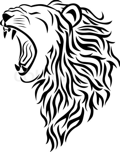 lion head tattoo stock vector colourbox