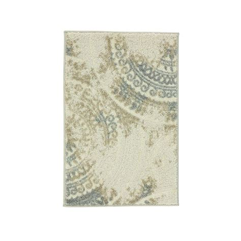 home decorators collection imperial ivory 3 ft x 5 ft home decorators collection spiral medallion ivory 3 ft 3