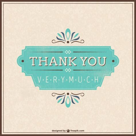 free email thank you card template retro thank you card vector free