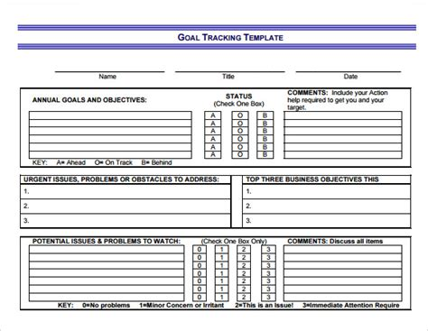 sle goal tracking 9 documents in pdf excel