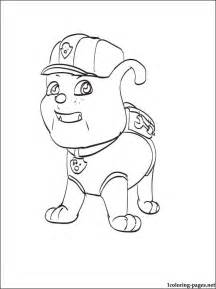 rubble paw patrol coloring page free coloring pages of paw patrol cat rubble
