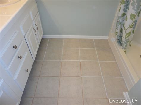 Bathroom Floor Tile Grout O Wall Decal