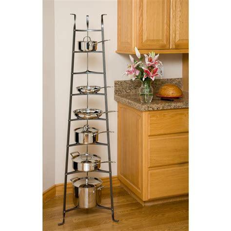 cuisinart 36 in rectangular bookshelf pot rack in brushed